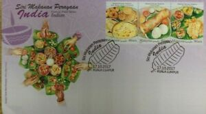 Malaysia FDC with Stamps (17.10.2017) - Festival Food Series Indian