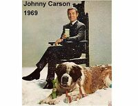 1969 Johnny Carson Smirnoff Ad Refrigerator / Tool Box Magnet