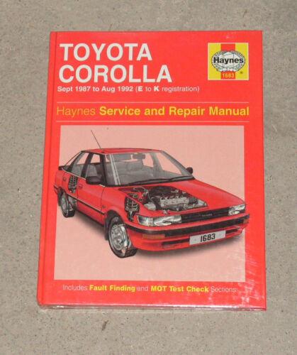 haynes toyota corolla sept 1987 to august 1992 service repair rh ebay com 1997 Toyota Corolla Repair Manual 1997 Toyota Corolla Repair Manual
