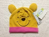 Disney Winnie The Pooh Baby Girls Infant Hat With Ears