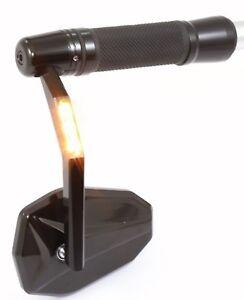 Espejo-Extremo-Del-Manillar-con-Intermitente-LED-Tuv-Certificado-E-Negro-Victory