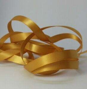 """- DOUBLE SIDED 1/"""" RIBBON SATIN POLYESTER NEW WOVEN EDGE 5 METRE 24mm"""
