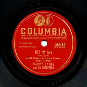 HARRY JAMES 1942 Columbia 36614 - He's My Guy / You're in Love With Someone Else