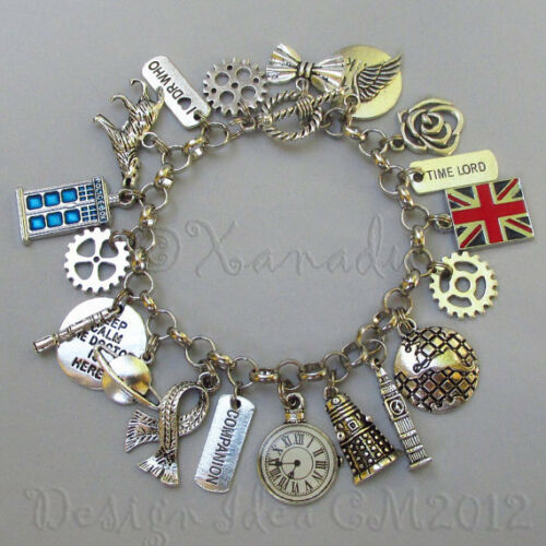 Doctor Who Time Lord Bracelet Charms 15PCs Mix CM2012-15 45 Or 60PCs 30
