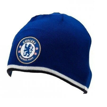 6660ab72d79 Chelsea FC Royal Blue Knitted Bronx Winter Hat Football Club Badge Official  for sale online