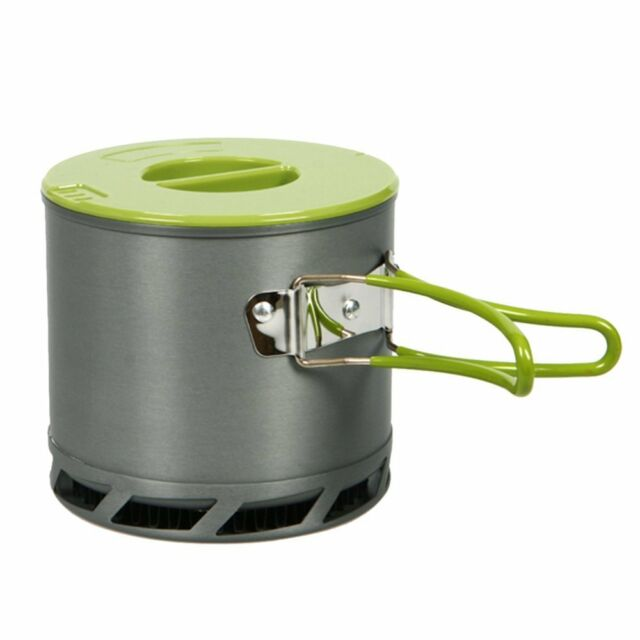 1.2 L Camping kitchen utensils Outdoor pot portable heat exchanger collect Y8U4