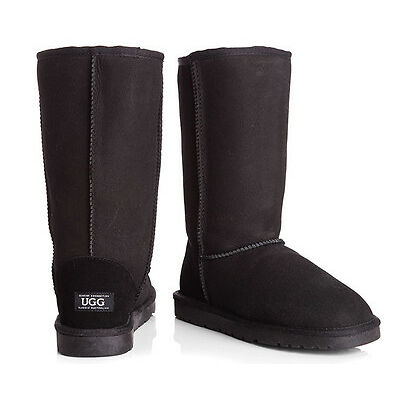 OZWEAR Connection Unisex Classic Long Ugg Boot - Black
