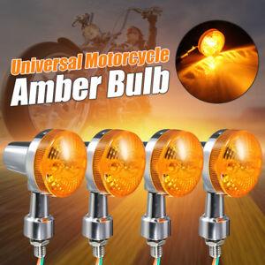 4pcs-12V-Clignotant-Turn-Signal-Indicateur-Ampoule-Eclairage-Ambre-Chrome-Moto