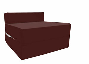 Uk Made Wine Fold Out Single Guest Z Chairbed Folding Mattress Sofa Bed Futon Ebay