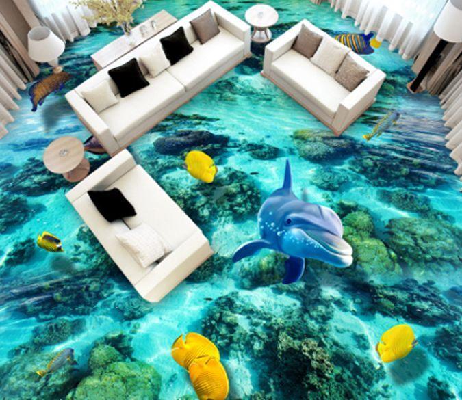 3D Ocean Marine Life475 Floor WallPaper Murals Wall Print Decal 5D AJ WALLPAPER