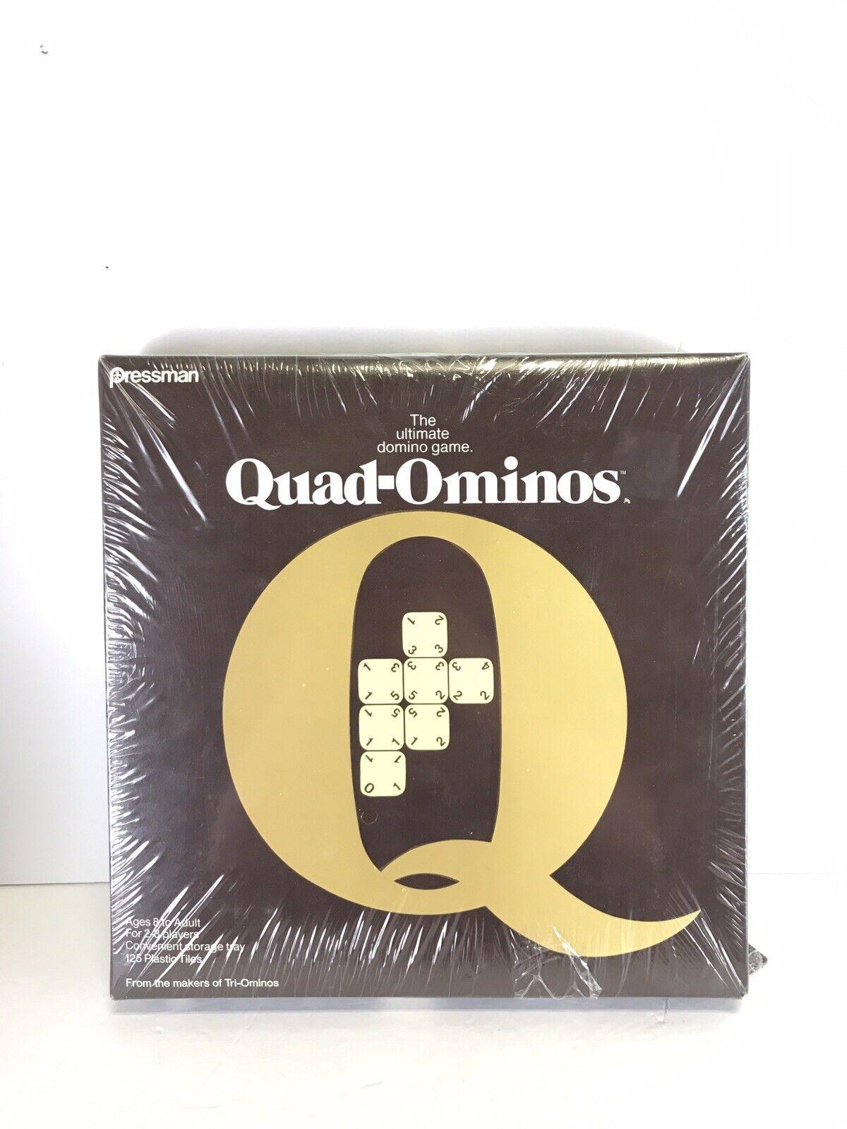 QUAD-OMINOS Ultimate Domino TILE BOARD GAME Pressman 1978 Quadominoes NEW