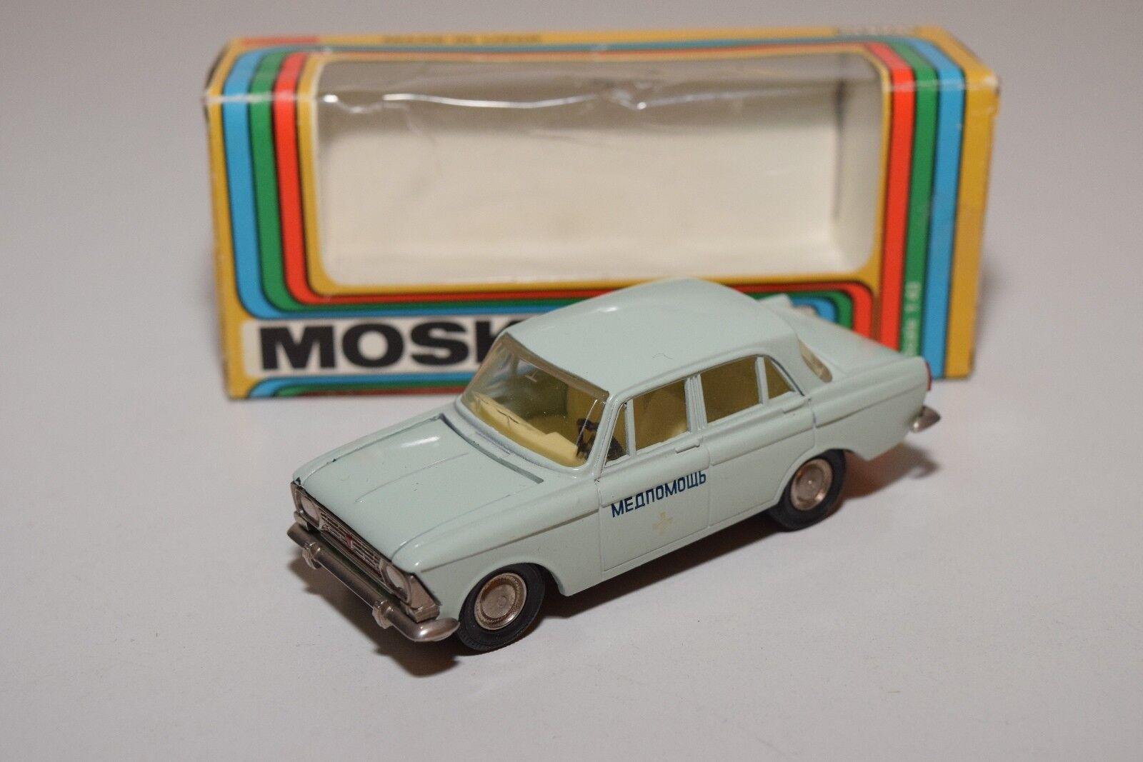 B RUSSIAN CAR USSR CCCP NOVOEXPORT A2 MOSKVITCH 412 412 412 AMBULANCE VN MINT BOXED 3e3e4a