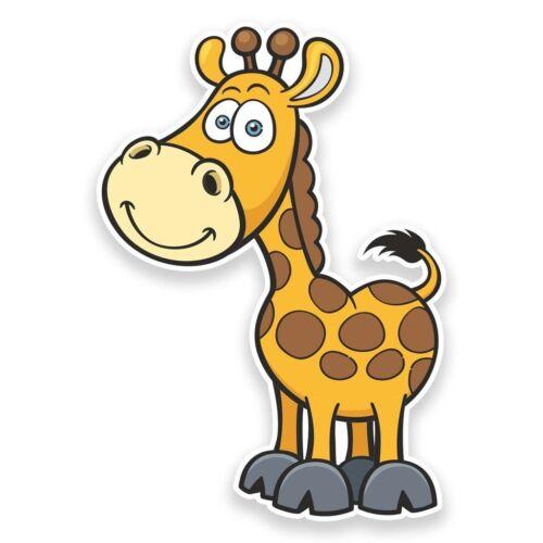 2 x Happy Giraffe Vinyl Sticker Travel Car Luggage #9251