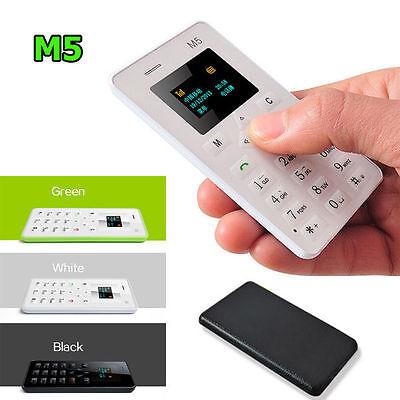 "1x 1.0"" Ultra Thin AIEK M5 Card Mobile Phone Mini Pocket GSM Children Card Phone"