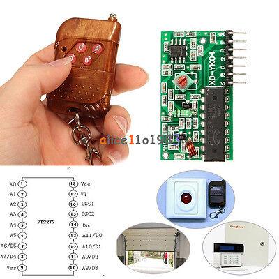 2PCS IC 2262/2272 4CH Key 315MHZWireless Remote Control Receiver module Arduino