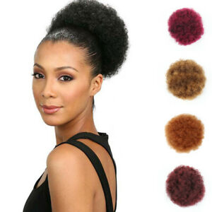 PW-Afro-Women-Elastic-Bun-Wig-Heat-Resistant-Short-Curly-Wavy-Scrunchie-Hairp