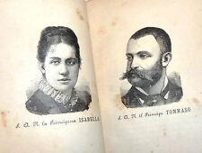 Yorick: GIOSTRE E TORNEI 1313-1883 ed. Fanfulla, SAVOIA con Ritratto Principi