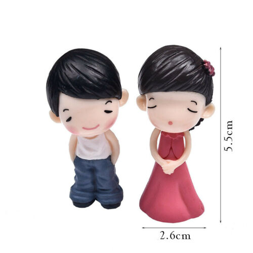 1 Set Sweety Lovers Couple Chair Figurines Miniatures Fairy Garden Resin Crafts