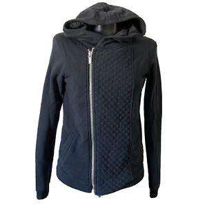Size-1-Small-Mason-Scotch-Womans-Wanderlust-Quilted-Moto-Zip-Hoodie-Sweatshir