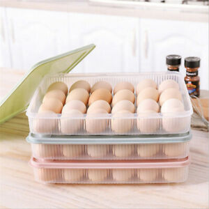 24-Grids-Egg-Storage-Box-Case-Refrigerator-Plastic-Storage-Rack-Holder-Container