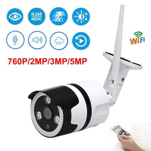 HD 760P//1080P//3MP//5MP WiFi IP Camera Wireless Mic IR Night Outdoor Onvif Bullet