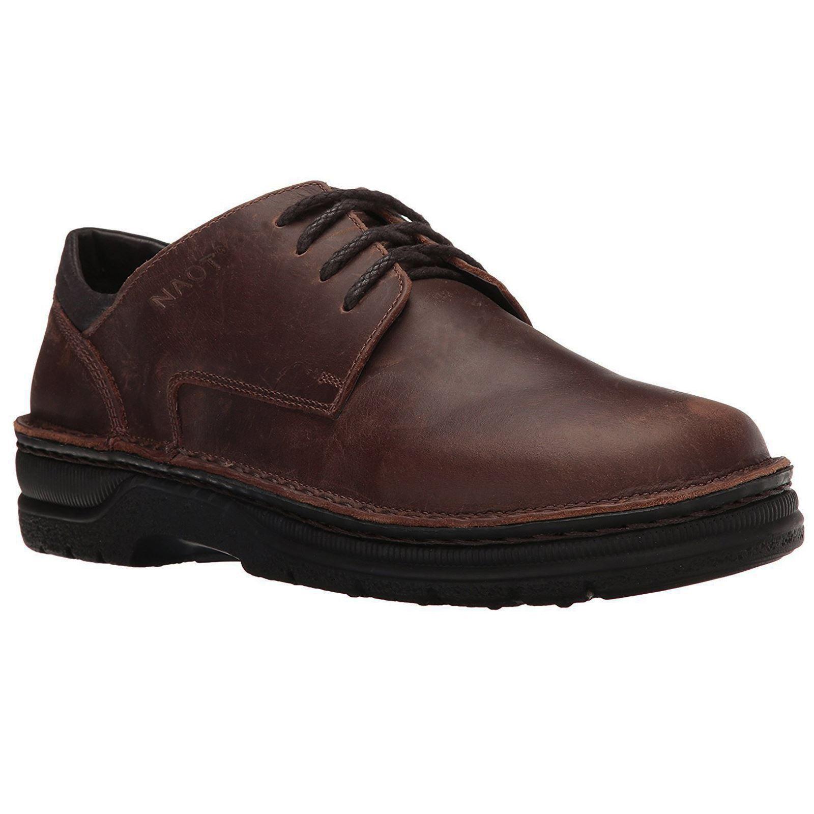 Naot Denali Crazy Horse Mens Leather Lace-up Sport Flats Elegant Oxford Shoes