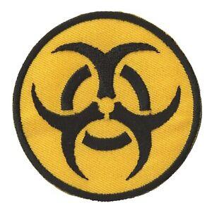 Patch-ecusson-patche-Biohazard-risque-Biologique-thermocollant-brode