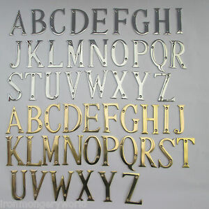 3 75mm ottone massiccio porta di casa lettere dell 39 alfabeto porta nome ebay - Casa dell ottone milano ...