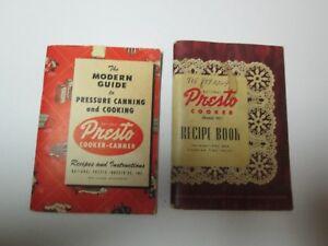 8fed262411968 Details about 2 Vintage PRESTO Cooker Recipe Instructions Books Model 40  1946 & 1959