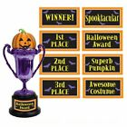 Multi Label Trophy Halloween Trick or Treat Themed Party Decorations Favors