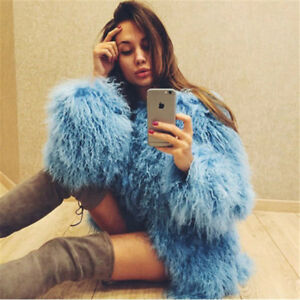 Women-Real-Mongolian-Flurry-Shaggy-lamb-Fur-Coat-Long-hair-Jacket-Outwear-Parka