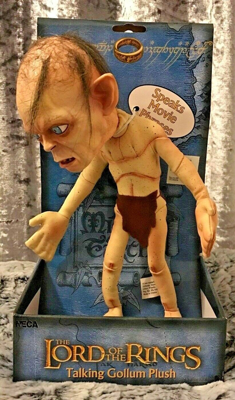 Gollum 'NECA Talking Plush Figure' RARE - Lord of the Rings, Andy Serkis