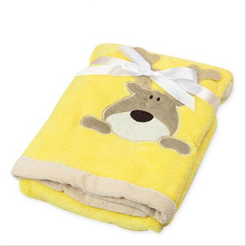 Baby Soft Blanket Infant Crib Bedding Cartoon Blanket Newborn Gift For Boy Girl