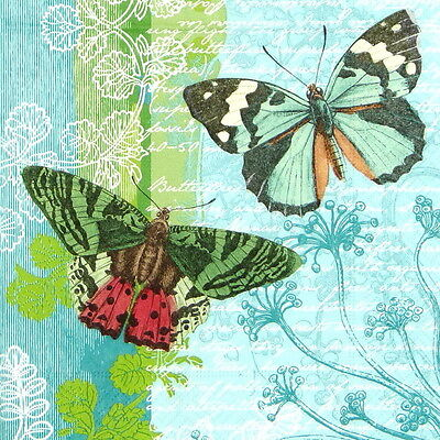 4x Paper Napkins for Decoupage Decopatch Craft Flying Friends