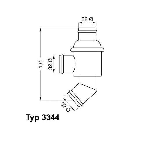 1 Termostato, refrigerante BorgWarner (Wahler) 3344.75 adecuado para BMW
