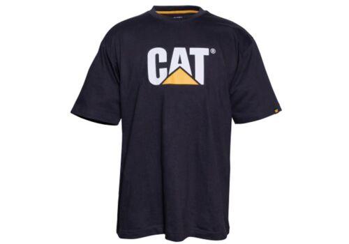 WWZ Caterpillar Versatile Trademark Logo Tee Short Sleeve Tshirt Top Mens