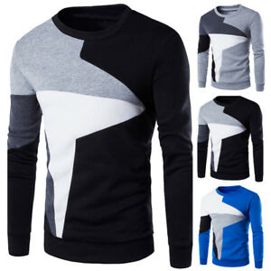 Fashion-Mens-Casual-Long-Sleeve-Hoodies-Warm-Crew-Neck-Sweatshirts-Pullover-Tops