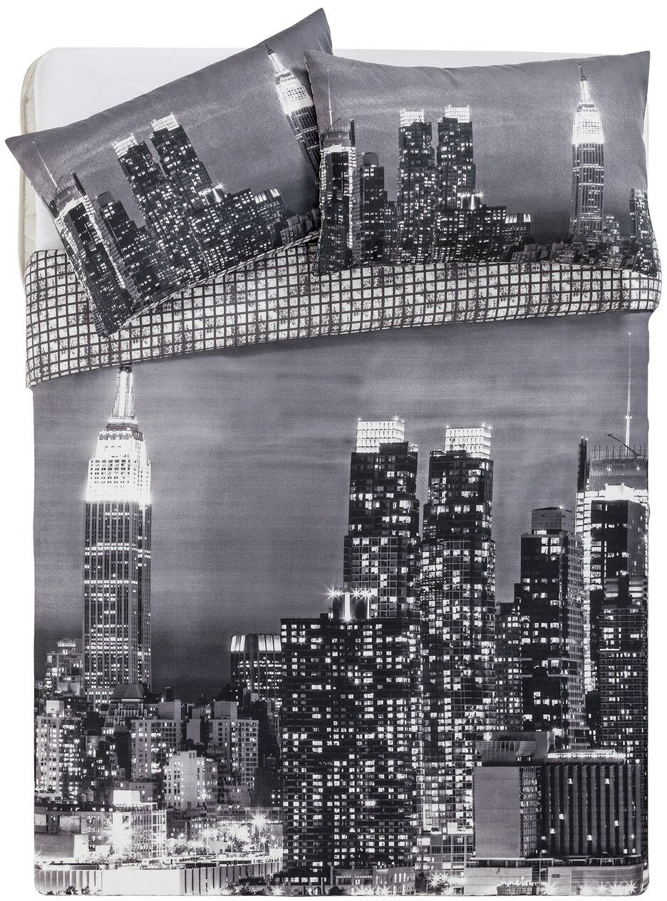 New York Skyline Bedding Set - Double