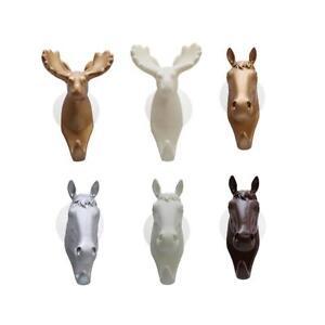 Animal-Deer-Stags-Head-Hook-Wall-Hanger-Rack-Coat-Hat-Key-Holder-Home-Decor-SG