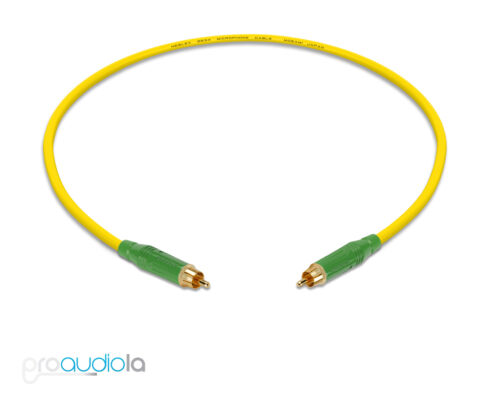 Mogami 2534 Quad CableGreen Amphenol RCA to RCAYellow 1.5 Feet 1.5 Ft.