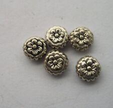 50 pcs Tibetan silver flowers Charm Spacer beads 7.5x4 mm
