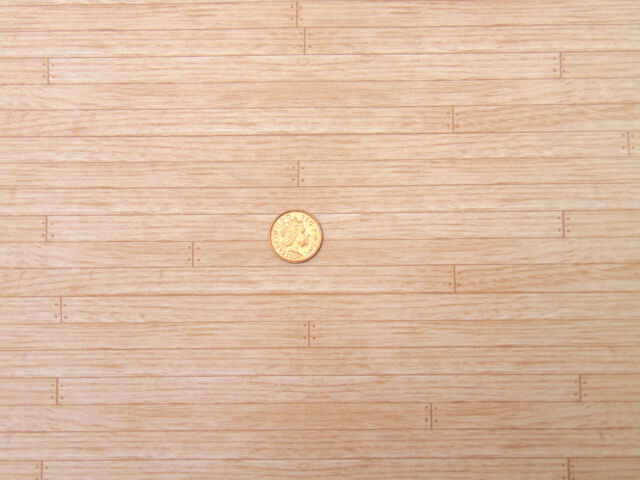 1:12 Scale Tumdee Dolls House Paper Maple Floor Boards A3 - 29.7cm x 43cm - 505