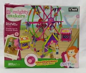 K-Nex-Mighty-Makers-Fun-On-The-Ferris-Wheel-Building-Set-Toy-Emily-Cocoa-Bear