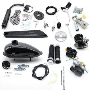 2-Takt 50cc Moteur Motorisierte Gas Fahrrad Benzin Hilfsmotor Engine Kit Bicyle Elektrofahrräder