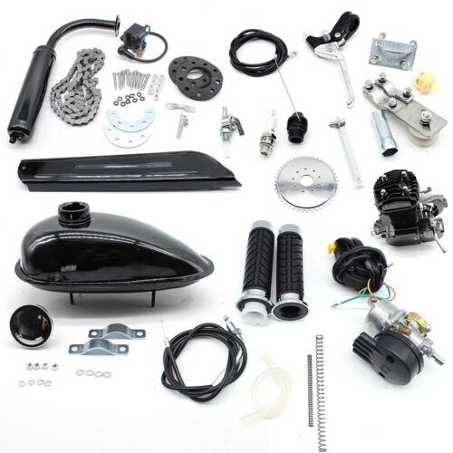 Für 26/28 Fahrrad Schwarzer 50cc Zweitaktmotor Hilfsmotor Air Cooling CDI Mode