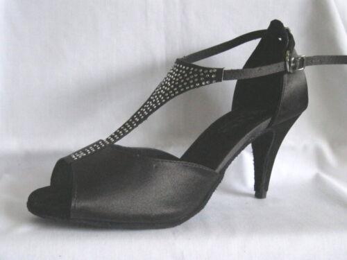 Danse Ballroom Tango Tailles 5 Black Chaussures 3 ou de Latin Salsa Uk Mesdames Jive 3 58x0CwZTq