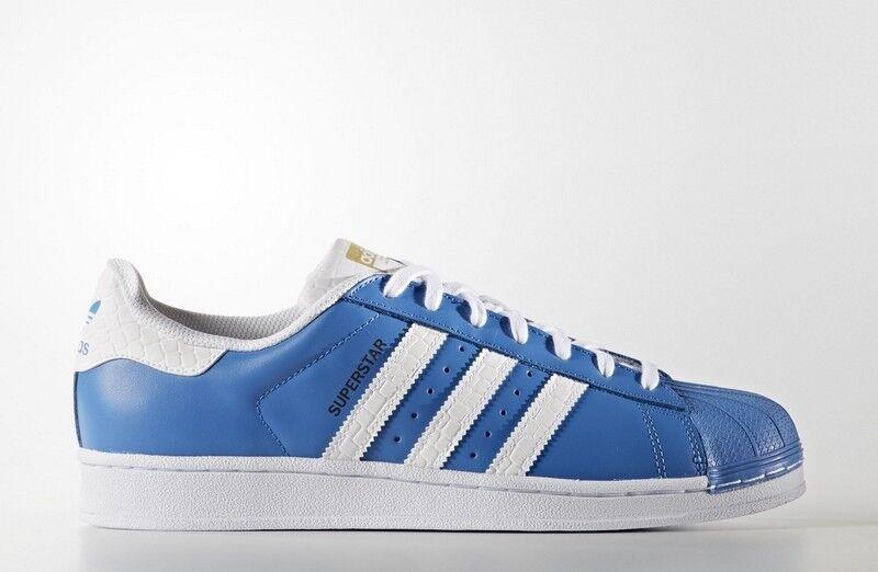 zapatillas S75881 Zapatillas Adidas Superstar Azul Hombre