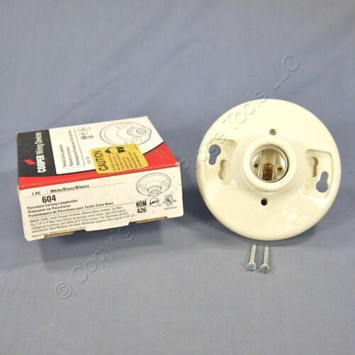 New Cooper Porcelain Ceiling Lampholder Keyless Light Socket 660W 4-Terminal 604