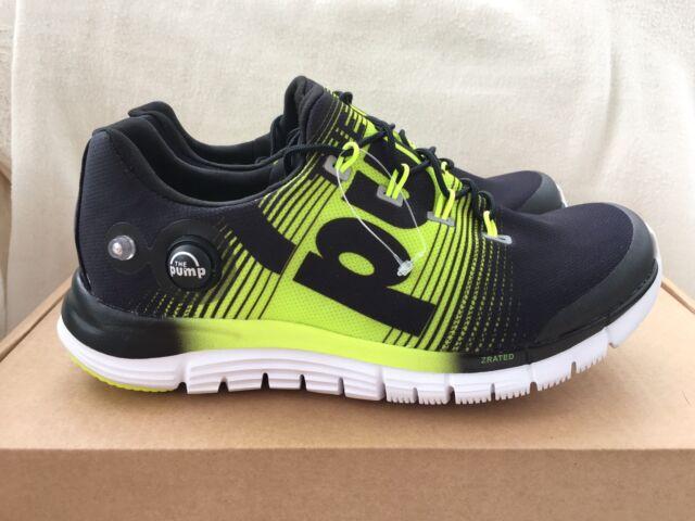 4e1aa89d96f3 Reebok Zpump Fusion Black Lime Trainers Size 5.5 UK Women s. Brand New.