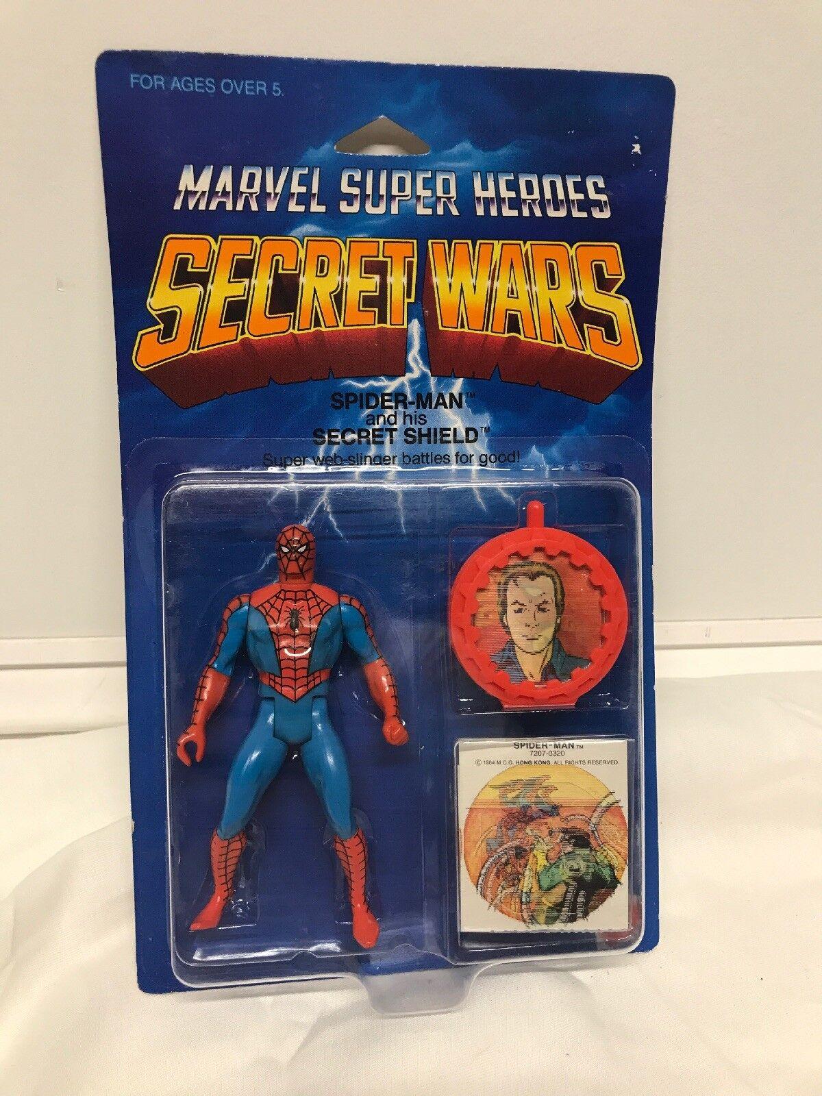 Mattel marvel geheime kriege rot spider - man - actionfigur 1984 deutlich blase